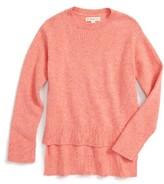 Girl's Tucker + Tate High/low Sweater