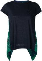 Sacai printed petal back T-shirt - women - Linen/Flax/Polyester - 2