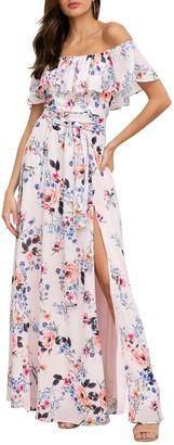 Yumi Kim Carmen Floral Ruffled Off-the-Shoulder Maxi Dress