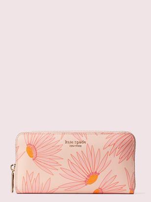 Kate Spade Spencer Falling Flower Zip-Around Continental Wallet