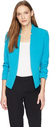 Tahari by Arthur S. Levine Women's Bi Stretch Open Jacket with Rouched Sleeve