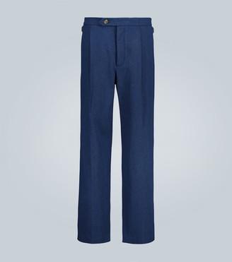 King And Tuckfield Straight-leg pleated pants