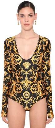 Versace Printed Jersey Bodysuit