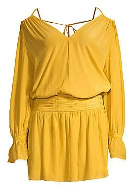 Ramy Brook Women's Evan Off-The-Shoulder Blouson Dress