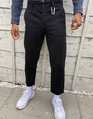 HUGO BOSS Salt 1 tapered fit cropped trousers