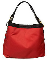 JPK Paris75 Signature Fabric Small Sasha Hobo with Leather Trim