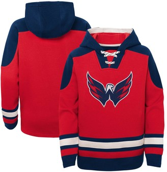 Outerstuff Youth Red Washington Capitals Ageless Must-Have Lace-Up Pullover Hoodie