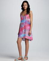 Neiman Marcus Cusp by Olivia Printed Silk Dress