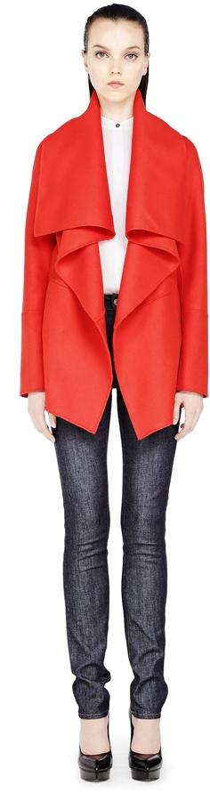 Mackage Marila Drapped Wool Coat