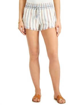 Rewash Juniors' Stripe Smocked Shorts