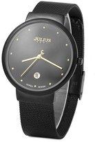 Julius JA-426ME Male Men's Tone Ultra Thin Quartz Analog Mesh Stainless Steel Calendar Wrist Watch