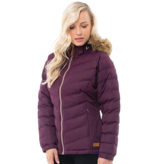Trespass Womens Nadina Padded Hooded Jacket Potent Purple