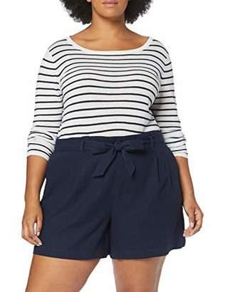Dorothy Perkins Curve Women's Linen Slim Shorts,(Manufacturer Size:)