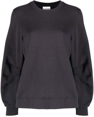 Ganni Oversized Organic Cotton Sweatshirt