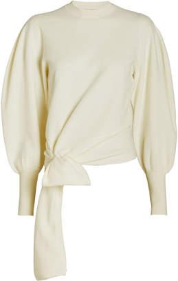 Ulla Johnson Tatiana Merino Wool Tie Waist Sweater