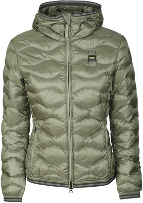 Blauer Quilted Zip Hooded Jacket