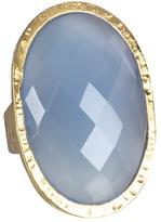 Nunu Dark Blue Chalcedony Cocktail Ring (Gold/Dark Blue Chalcedony) - Jewelry