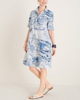 Chico's Santorini Print Short Dress
