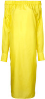 08sircus off-shoulder dress - women - Silk/Cupro - 36
