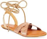 Roxy Tel Aviv Tie-Up Flat Sandals
