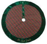 Plaid 46-Inch Christmas Tree Skirt