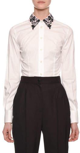 5b58222a White Shirt Long Sleeve Women No Collar - ShopStyle Canada