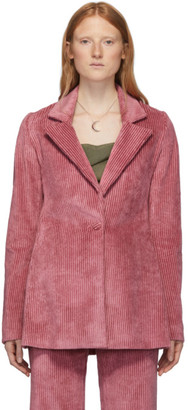 Marina Moscone Pink Corduroy Irving Blazer