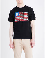 A Bathing Ape Face And Stripes Cotton-jersey T-shirt