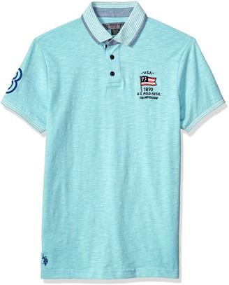 U.S. Polo Assn. Men's Short Sleeve Classic Fit Solid Slub Polo Shirt