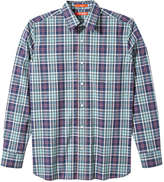 Joe Fresh Men's Print Shirt, Turquoise (Size XXL)