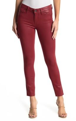 Paige Verdugo Coated Denim Raw Ankle Crop Skinny Jeans
