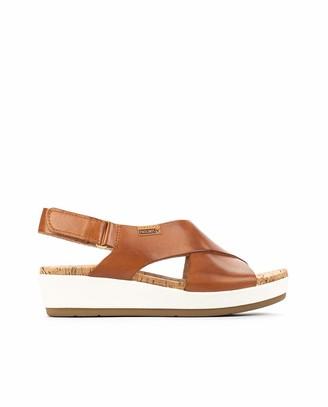 PIKOLINOS Leather Wedge Sandals Mykonos W1G