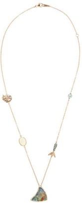 Bibi Van Der Velden - Opal, Sapphire, Pearl & 18kt Rose-gold Necklace - Rose Gold