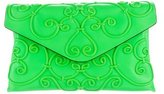 Valentino Intricate Large Scroll Envelope Clutch