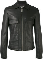 Maison Margiela - classic biker jacket - men - Calf Leather/Viscose - 50