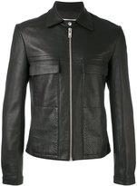 Maison Margiela classic biker jacket - men - Calf Leather/Viscose - 50