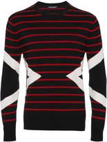 Neil Barrett Striped lightning bolt sweater