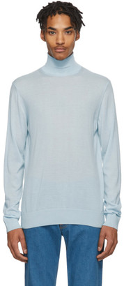 Lanvin Blue Cashmere Turtleneck Sweater