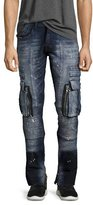 PRPS Windsor Skinny Stretch Moto Jeans, Icecap