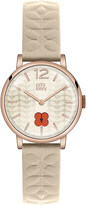 Orla Kiely OK2010 Frankie leather and stainless steel watch