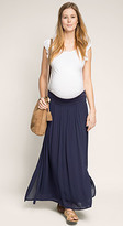 Esprit OUTLET maternity flowing maxi skirt with below-bump waistband