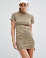 Daisy Street Bodycon T-Shirt Dress In Rib