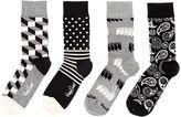 Happy Socks 4 Pair Pack Ankle Socks Gift Box