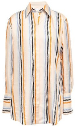 Victoria Victoria Beckham Victoria, Victoria Beckham Printed Silk-twill Shirt