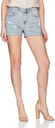 AG Jeans Women's Denim Hailey EX-Boyfriend ROLL-UP Short