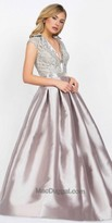 Mac Duggal Box Pleated Ball Gown