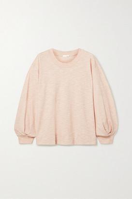 Skin - Florence Slub Cotton-jersey Top - Blush