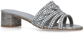 Gina Croc-Embossed Embellished Rodeo Mules 35