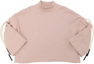 Cotton Sweatshirt W/ Drawstrings