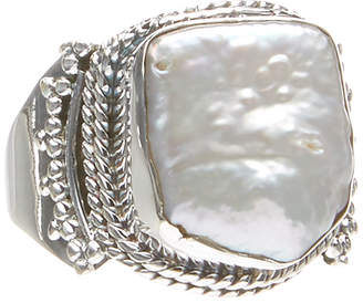 Mother of Pearl Shablis Women's Rings Silver - Mother-of-Pearl & Sterling Silver Mykonos Ring